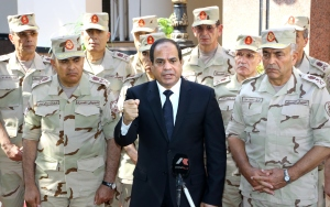 Abdel-Fattah El-Sisi came to power following a coup on President Mohamed Morsy in 2013.