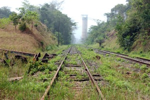 Liberia's only railroad, built in 1963 to transport iron ore