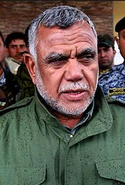 Hadi Al Ameir - Head of the Badr Brigade and at the forefront of the leadership of the Hashd.