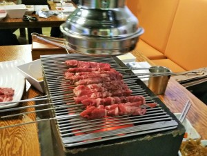 Korean BBQ can be enjoyed in restaurants, where the meat s grilled on the table in front of you.