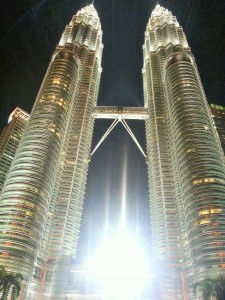 Petronas Towers- At a whopping 1483 feet, these are the tallest twin towers in the world.